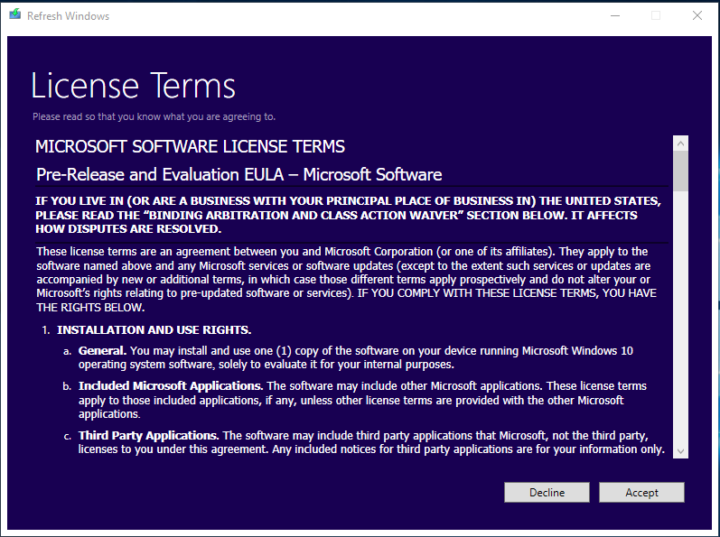 Windows 10 - Refresh Tool - IT-Pirate