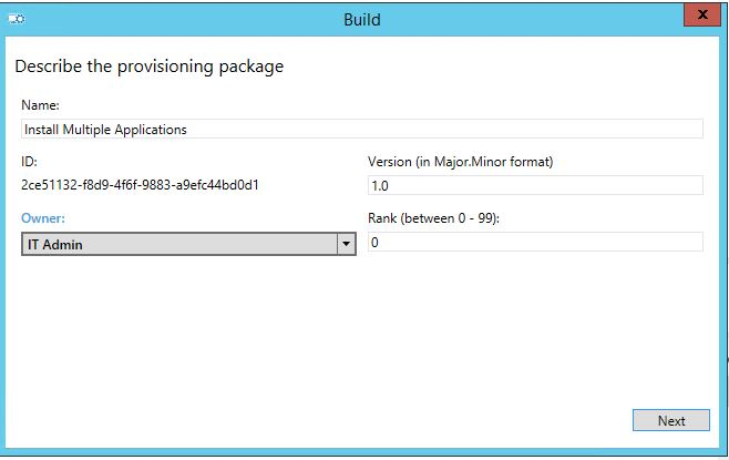 Windows 10 - Provisioning Packages - Install multiple