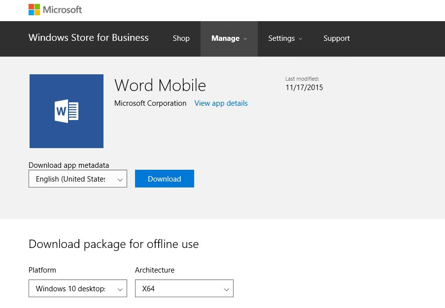 Windows 10 - Windows Store for Business - Managing Apps with System